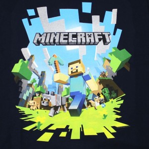 Minecraft Steve with his friends and diamond pickaxe