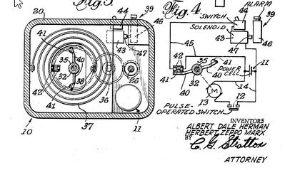 Patent US3473526 Cardiac pulse-rate monitor Herbert Marx