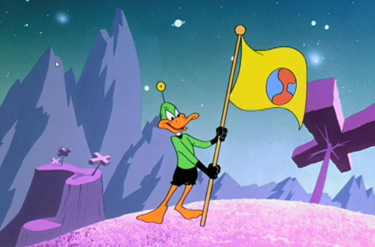 Duck Dodgers claiming Planet X